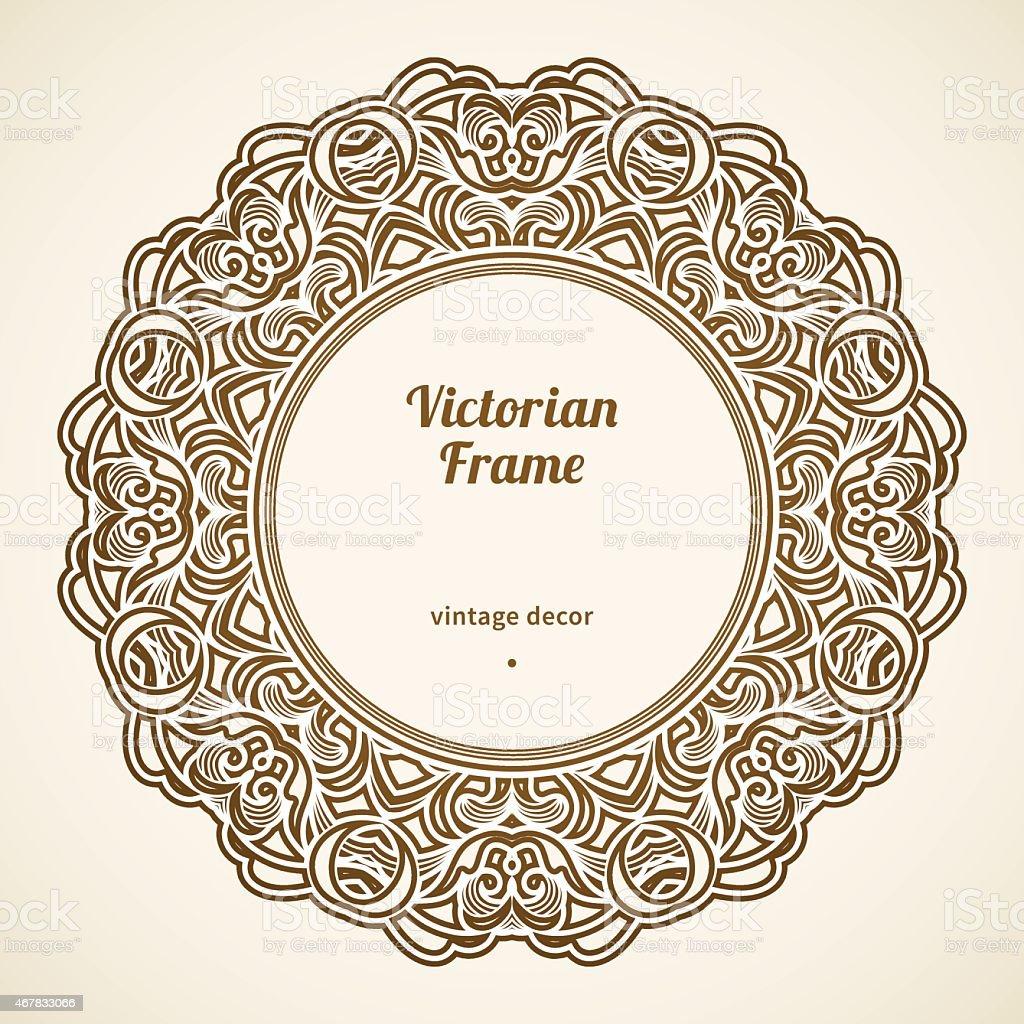 Filigrane Vektorframe Im Viktorianischen Stil Stock Vektor Art und ...