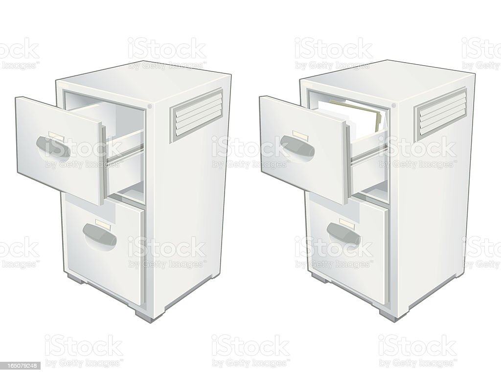 Filing Cabinet royalty-free filing cabinet stock vector art & more images of aluminum