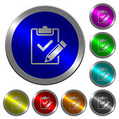 Fill out checklist luminous coin-like round color buttons