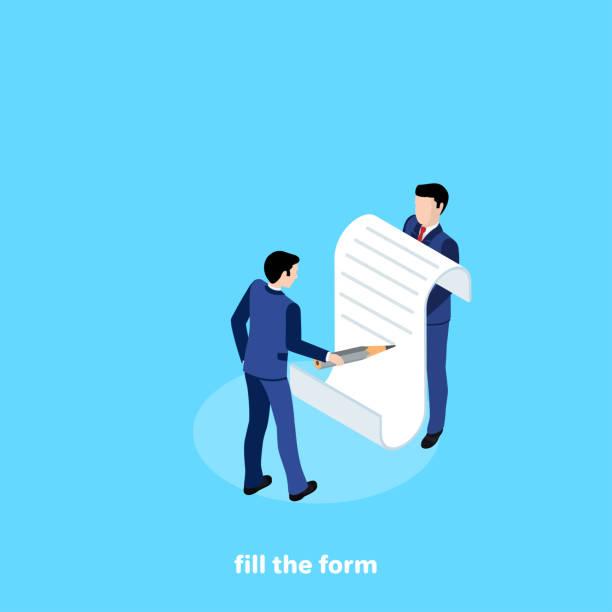 fill the form 2 vector art illustration