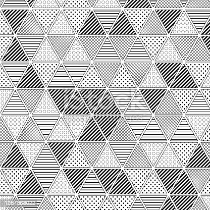 Filled triangles pattern on white