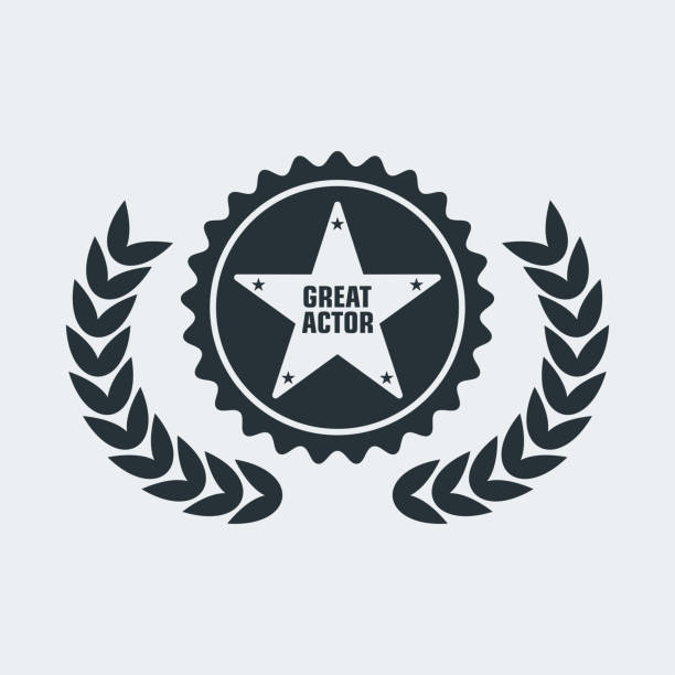 film award for best film - oscars stock illustrations, clip art, cartoons, & icons