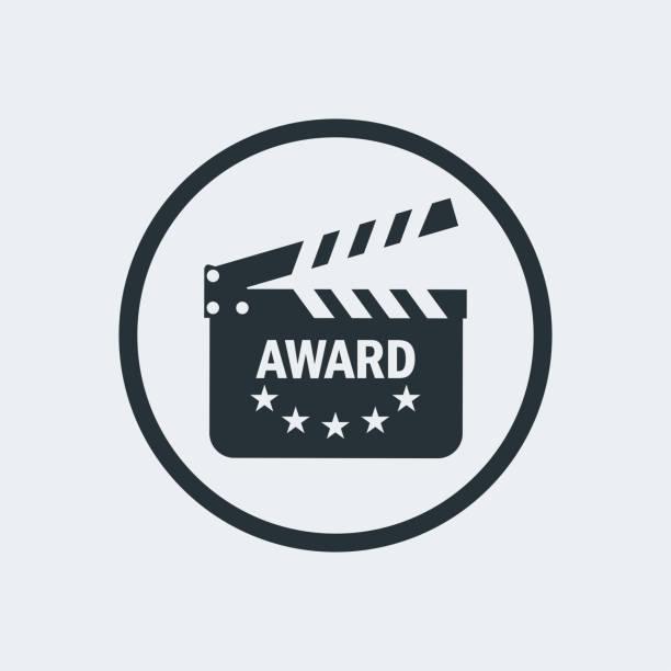 film award for best film. - oscars stock illustrations, clip art, cartoons, & icons