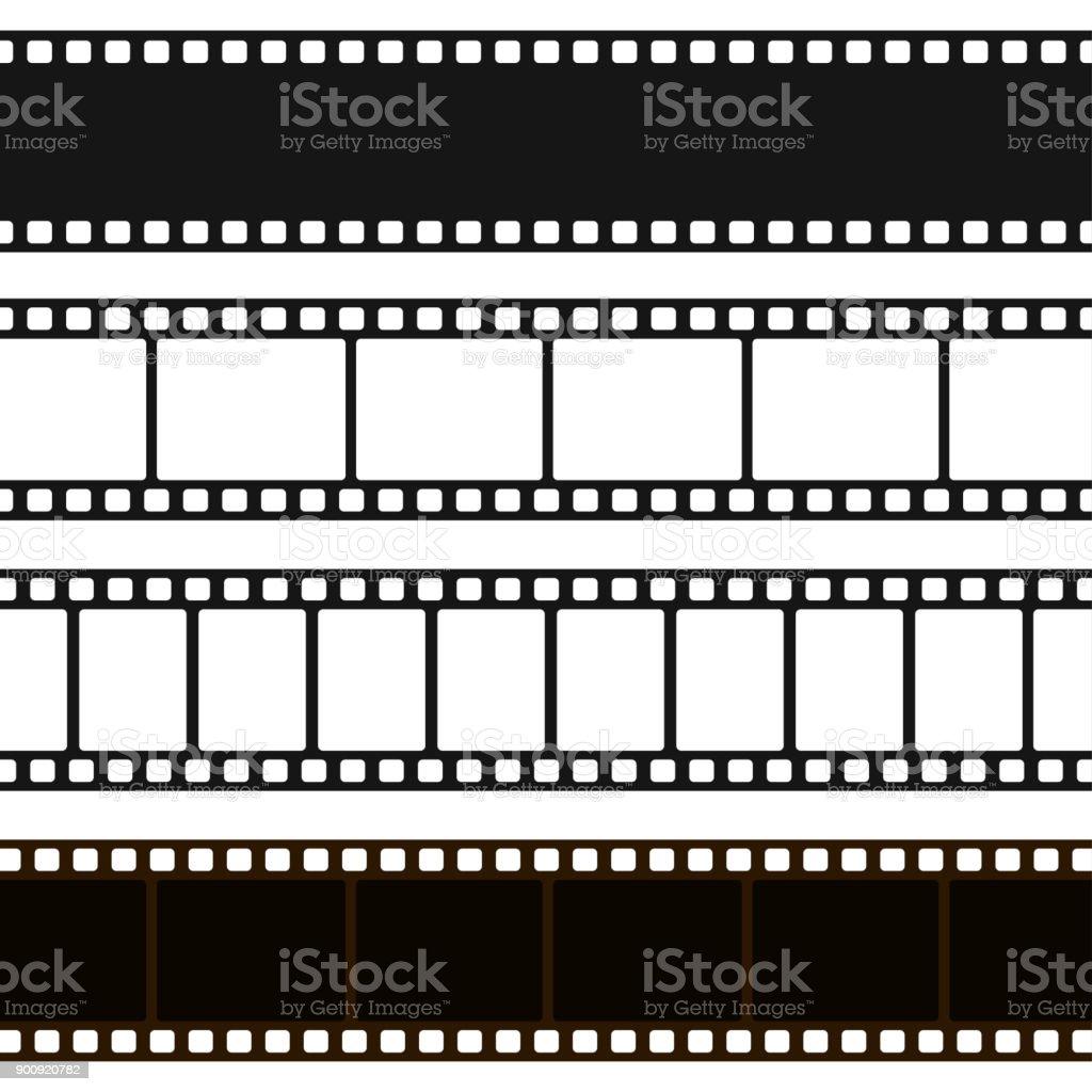 Film black and white strip vector art illustration
