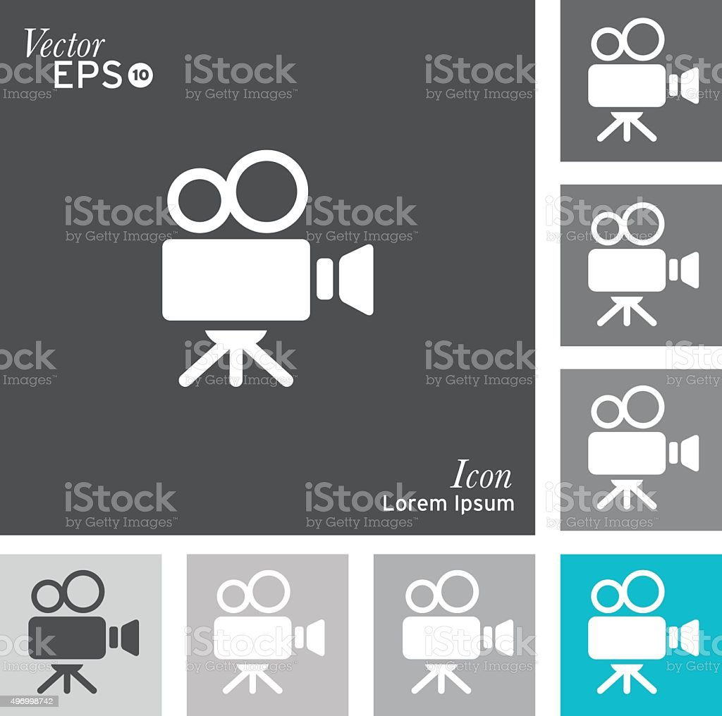 Film camera icon vector art illustration