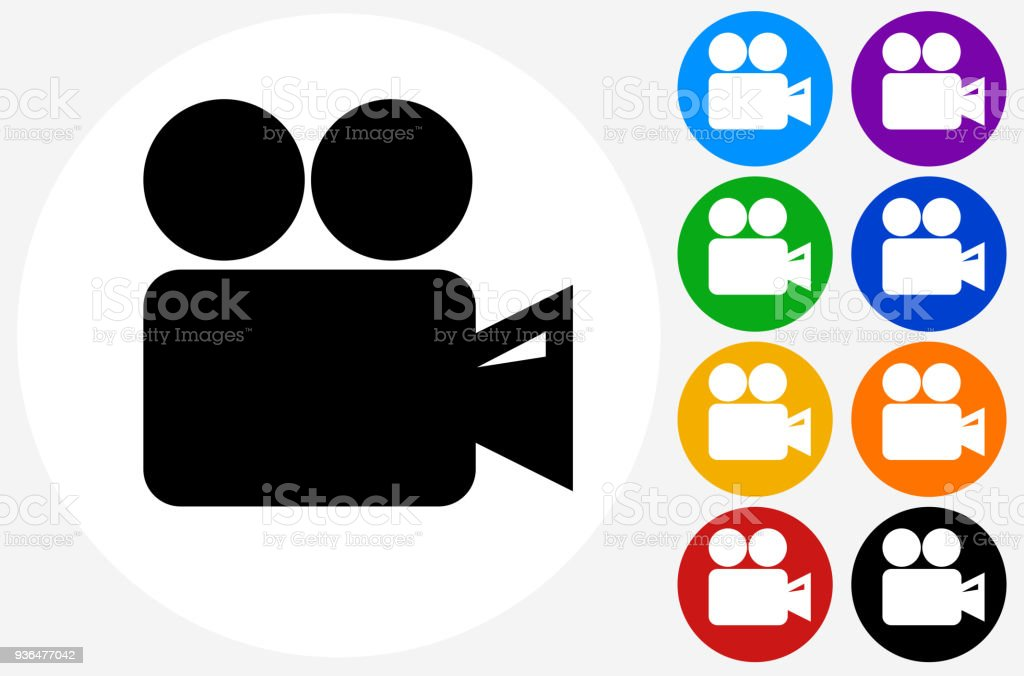 film camera icon stock vector art more images of black color rh istockphoto com film icon vector free download film icon vector free