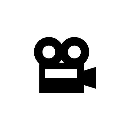 Film Camera, Video Recorder, Cinema Flat Vector Icon