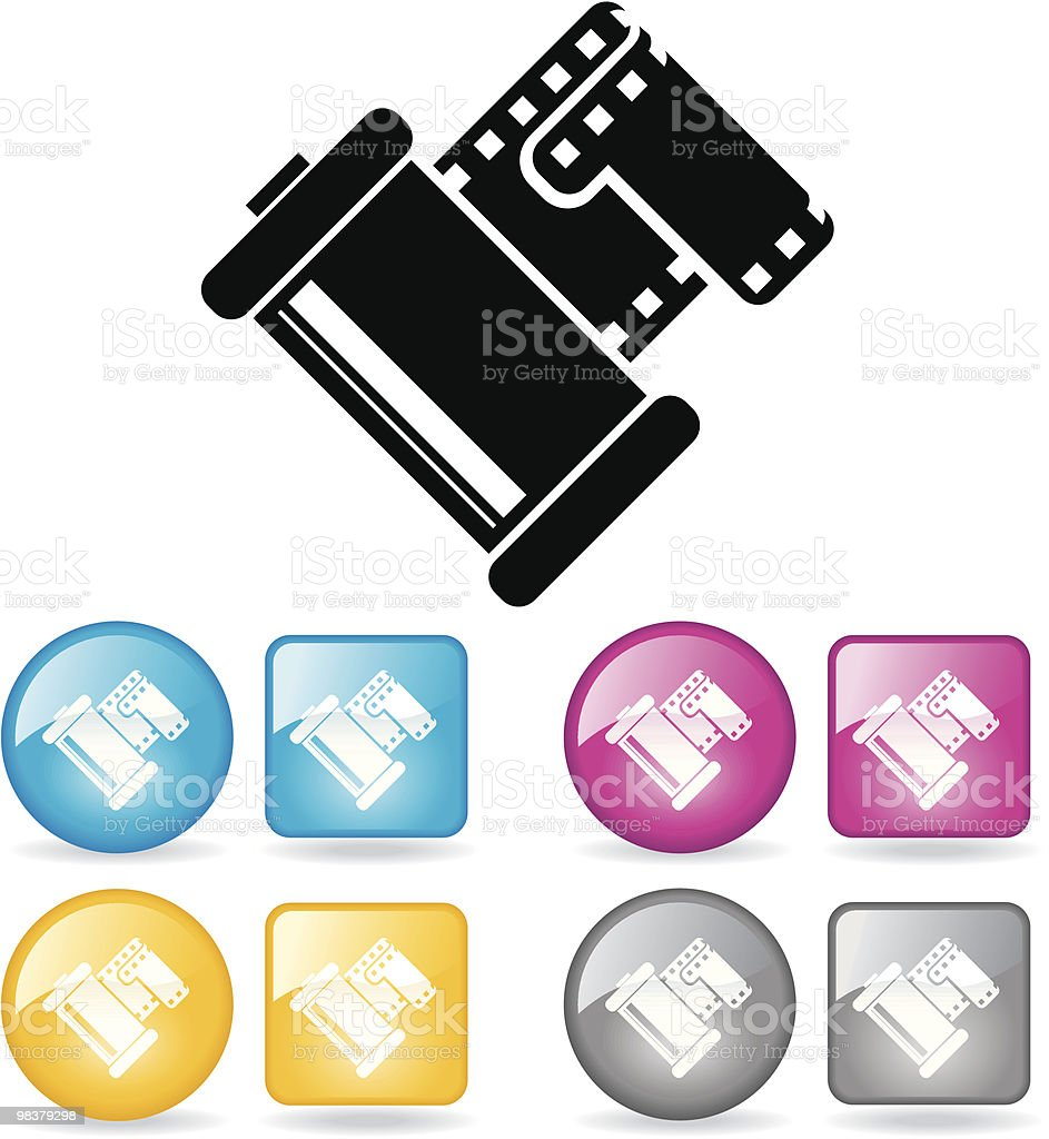Film Canister royalty-free film canister stock vector art & more images of blue