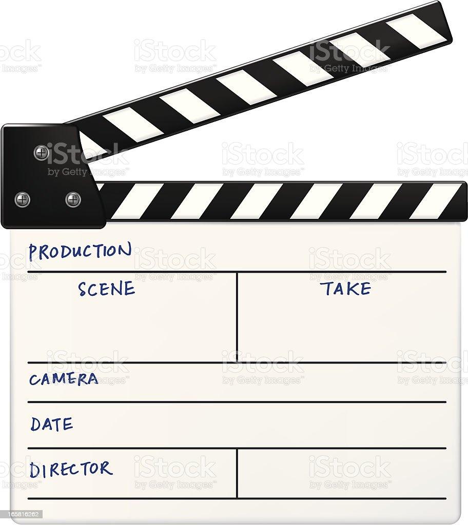 Film Clapboard vector art illustration