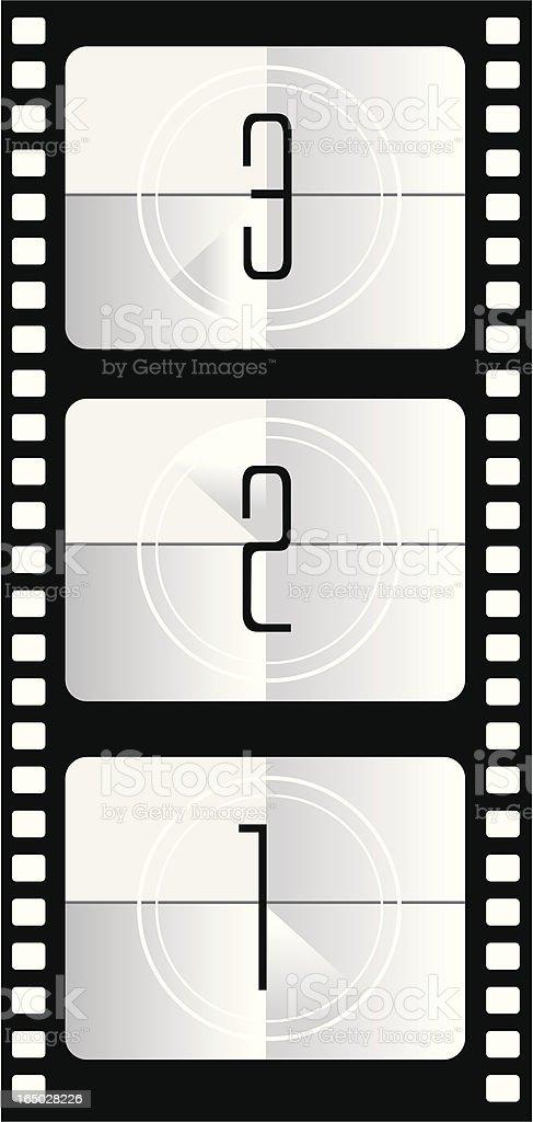 film countdown royalty-free stock vector art