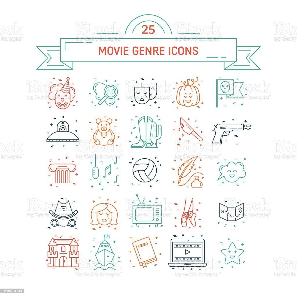 Film genre vector art illustration
