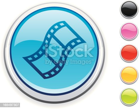 glossy film icon, 5 other blank colour buttons included