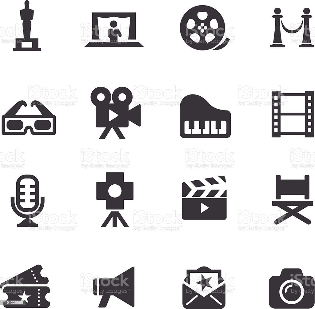 Film Industry Icons - Acme Series vector art illustration