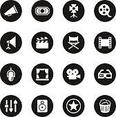 Film Industry Icons - Black Circle Series