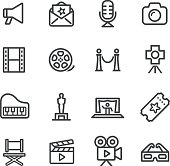 Film Industry Icons - Line Series