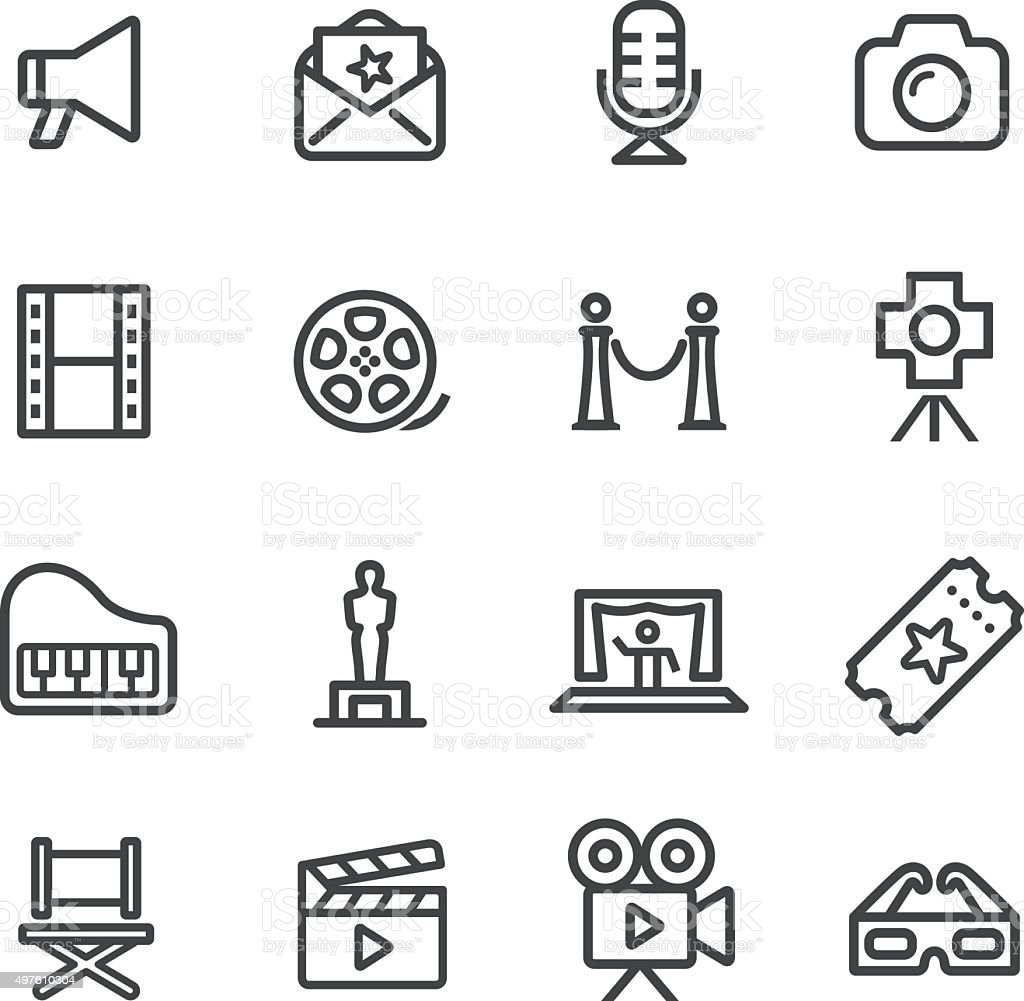 Film Industry Icons - Line Series vector art illustration