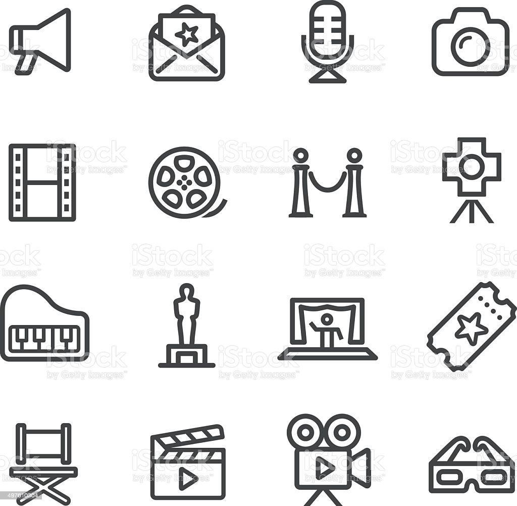 Film Industry Icons - Line Series vector art illustration