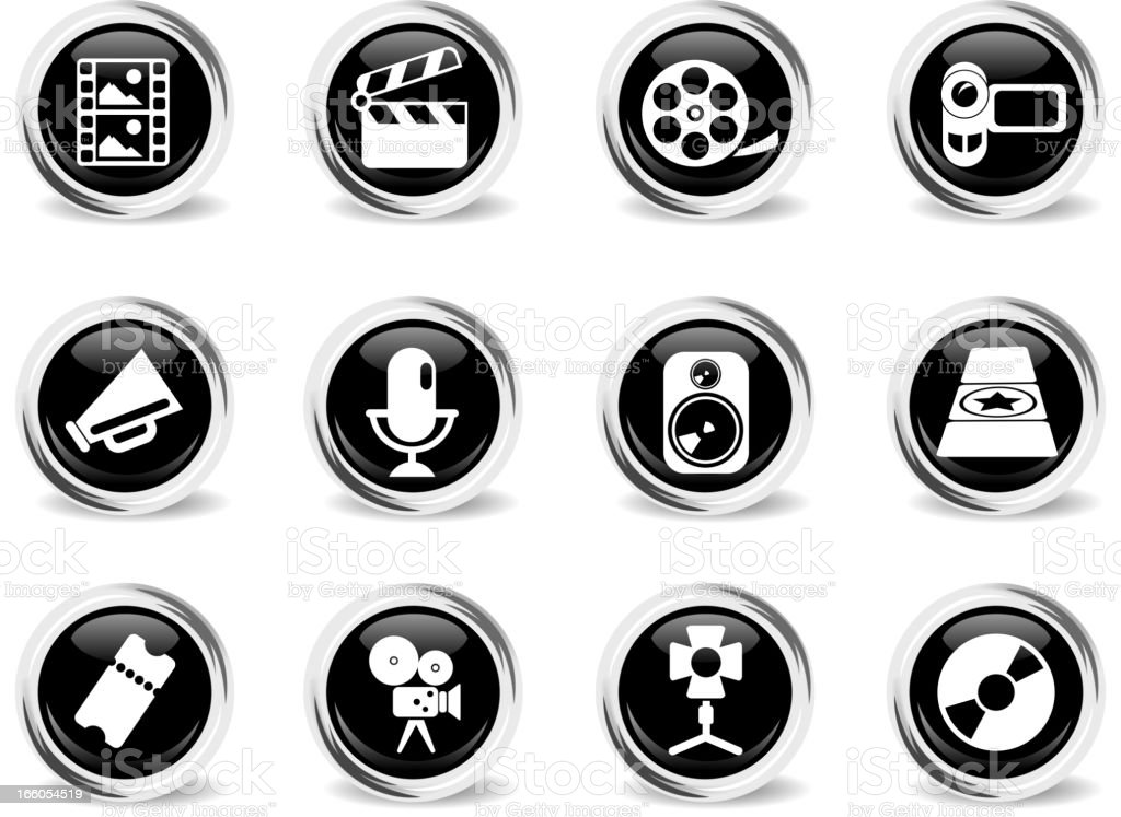 Film Industry Icons royalty-free stock vector art