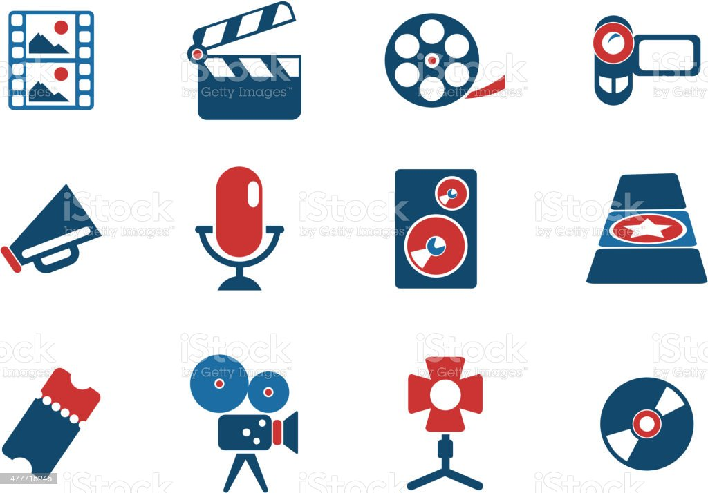 Film Industry Icons royalty-free film industry icons stock vector art & more images of arts culture and entertainment