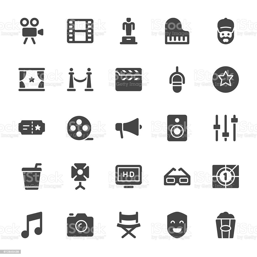 Film Industry icons vector art illustration