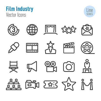 Film Industry Icons - Vector Line Series