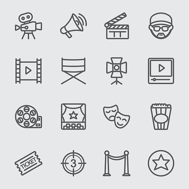 Film industry line icon Film industry line icon nightlife stock illustrations