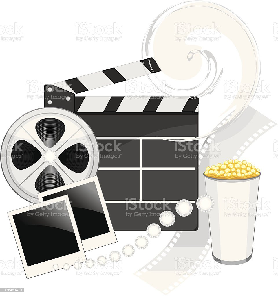 Film industry objects royalty-free stock vector art