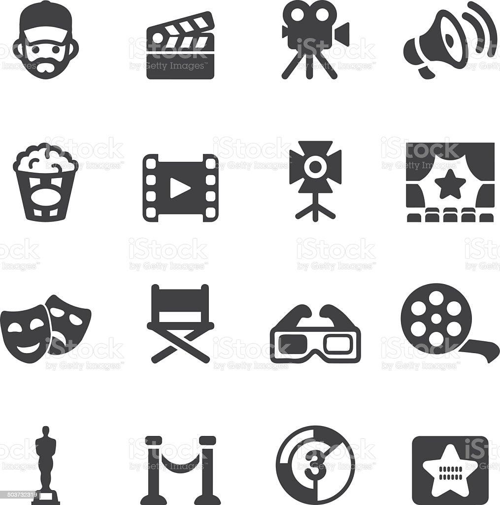 Industrie cinématographique/Silhouette icônes EPS10 - Illustration vectorielle