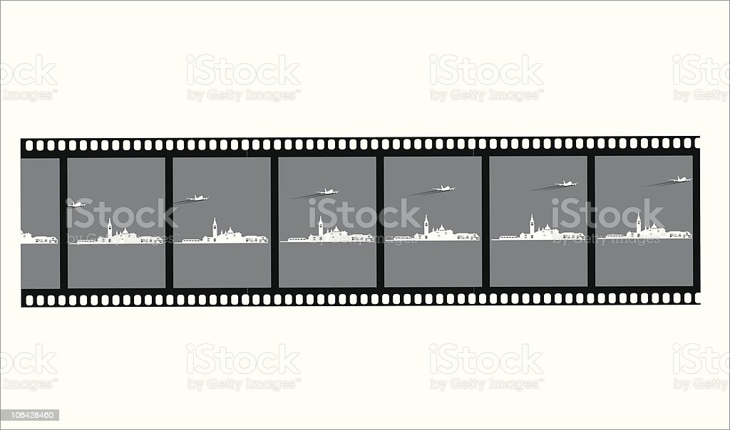 FIlm negative of venice royalty-free stock vector art