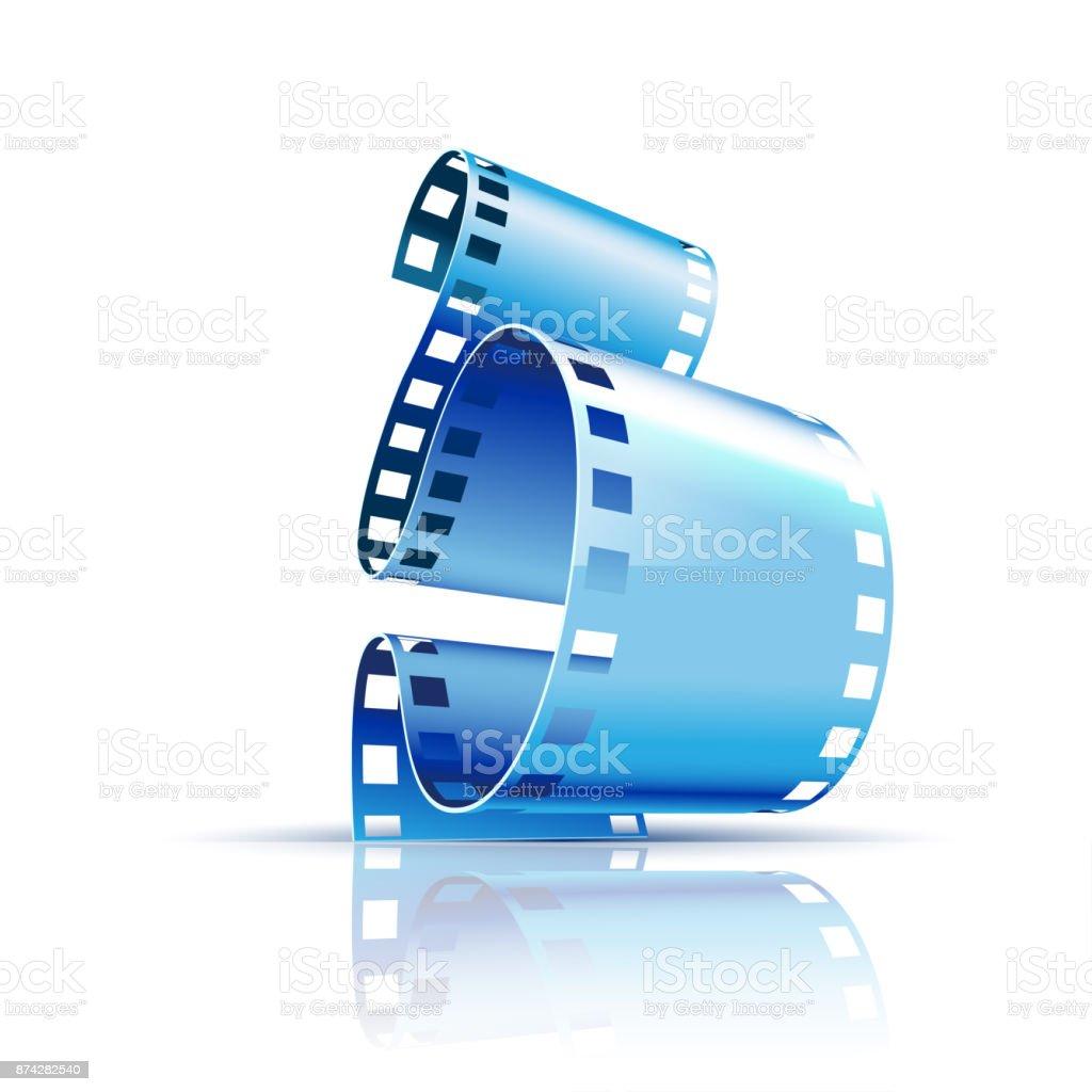 Film on white background vector art illustration