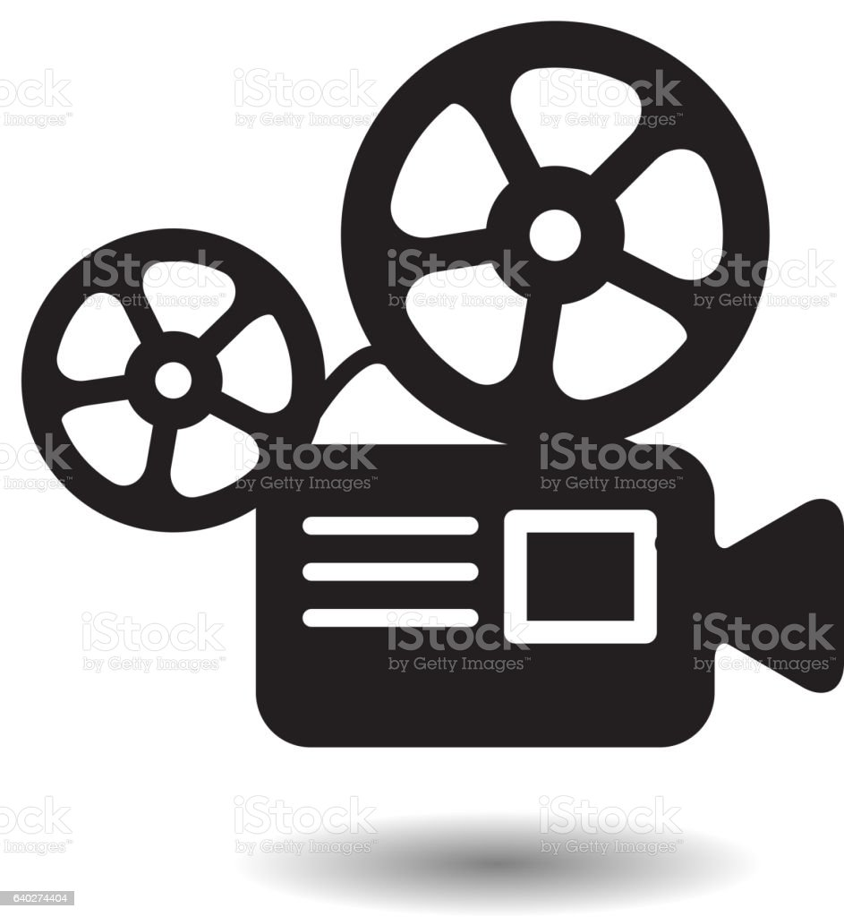 royalty free movie projector clip art vector images illustrations rh istockphoto com Movie Night Clip Art Outdoor Movie Screen
