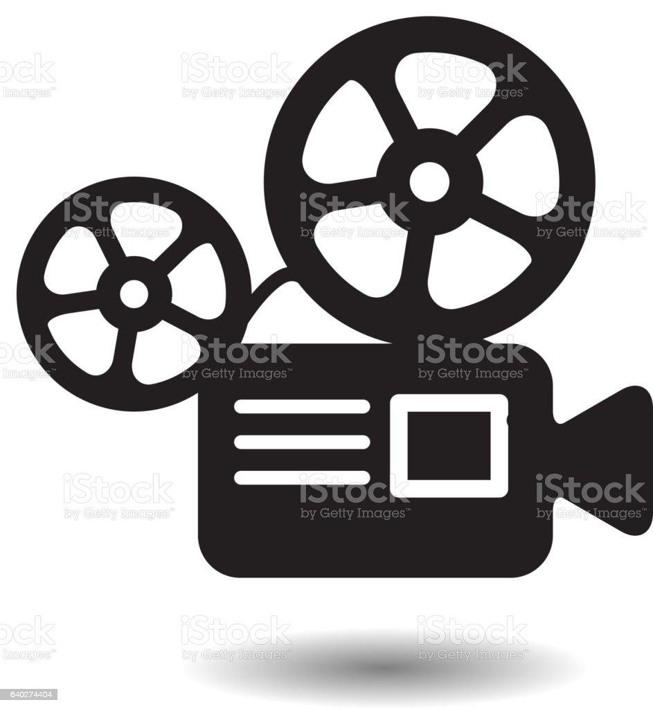 royalty free film projector clip art vector images illustrations rh istockphoto com Movie Ticket Clip Art vintage movie projector clipart