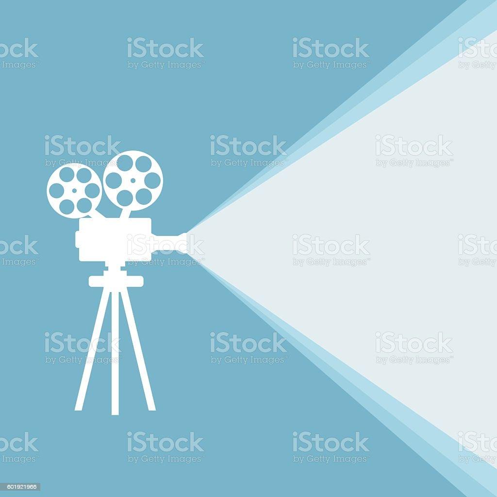 Film projector vector art illustration