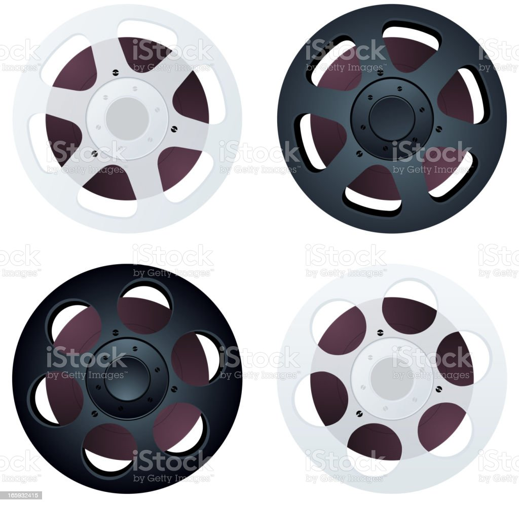 Film reel icons royalty-free film reel icons stock vector art & more images of arts culture and entertainment