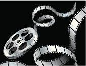 Film Reel on Black