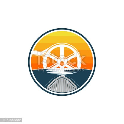 istock film reel sunset from ship dock icon 1271456332
