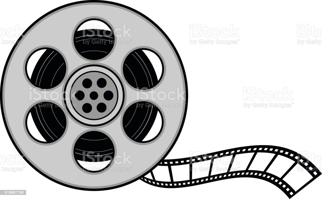 film reel stock vector art more images of 35mm film motion picture rh istockphoto com film reel vector download film reel vector download