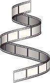 Film reel on white background.