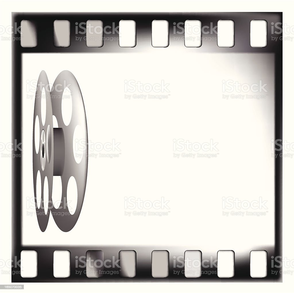 Film reels - VECTOR royalty-free stock vector art