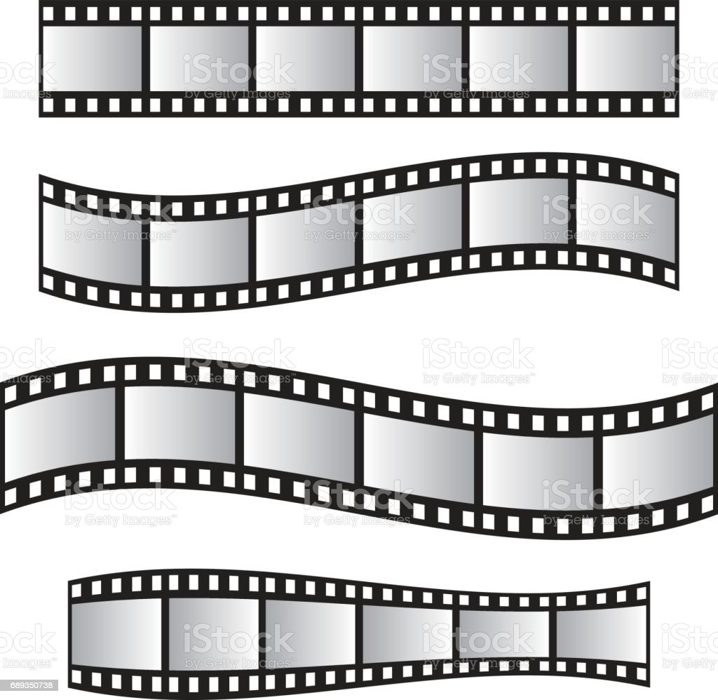 Film Roll Film 35mm Slide Film Frame Set Film Roll Vector Stock ...