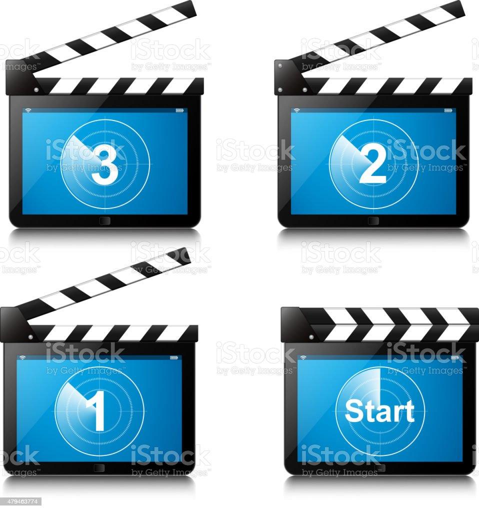 Le compte à rebours Film ARDOISE - Illustration vectorielle