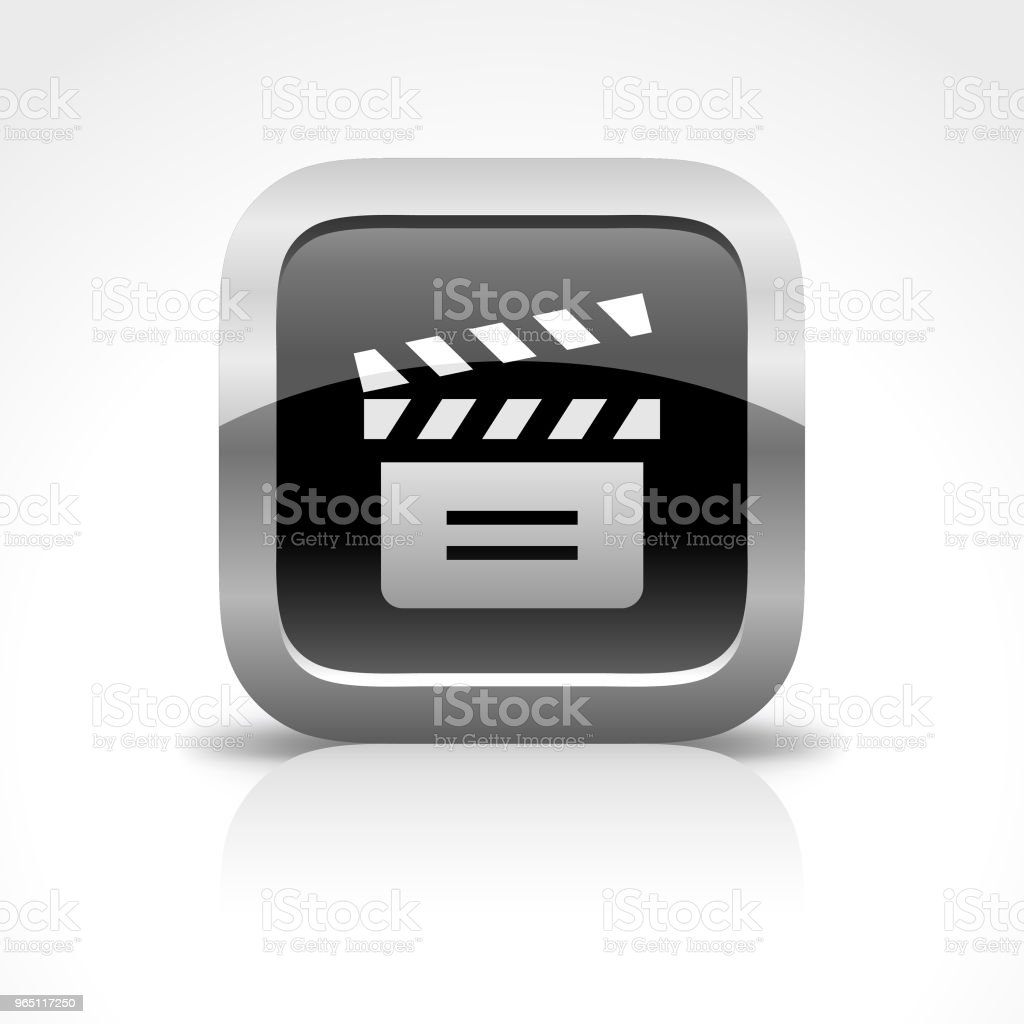 Film Slate Glossy Button Icon royalty-free film slate glossy button icon stock vector art & more images of arts culture and entertainment