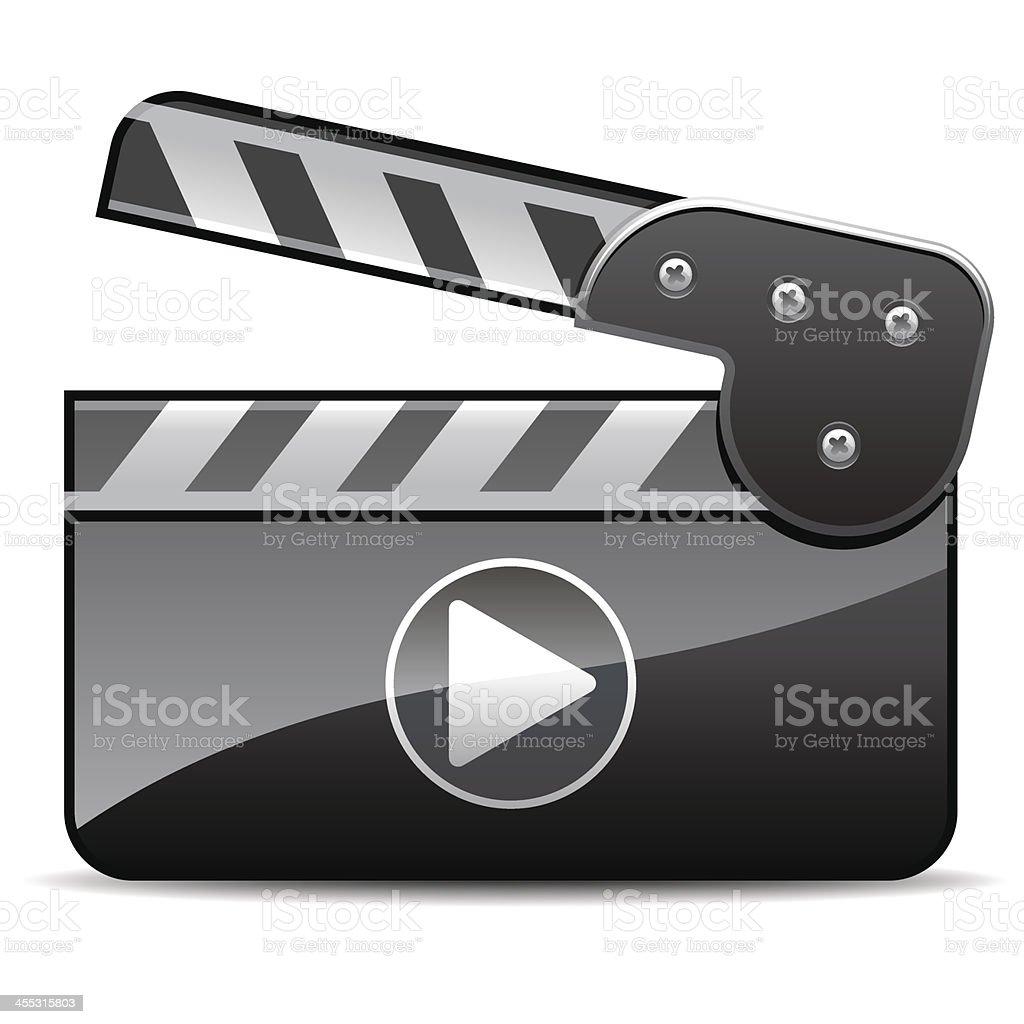 film slate icon royalty-free stock vector art