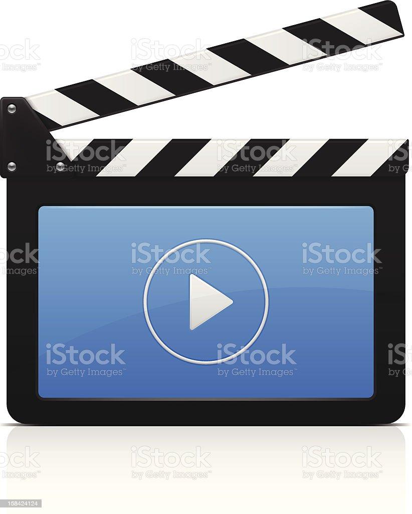 Clap de cinéma - Illustration vectorielle