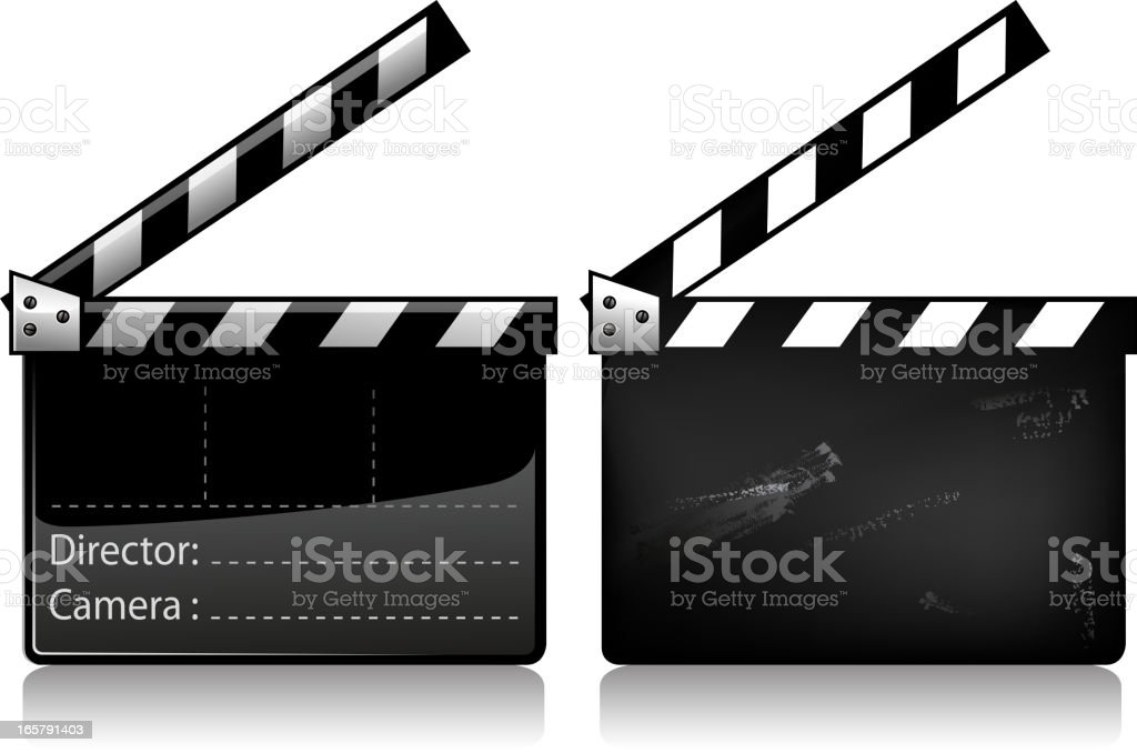 film slate royalty-free stock vector art