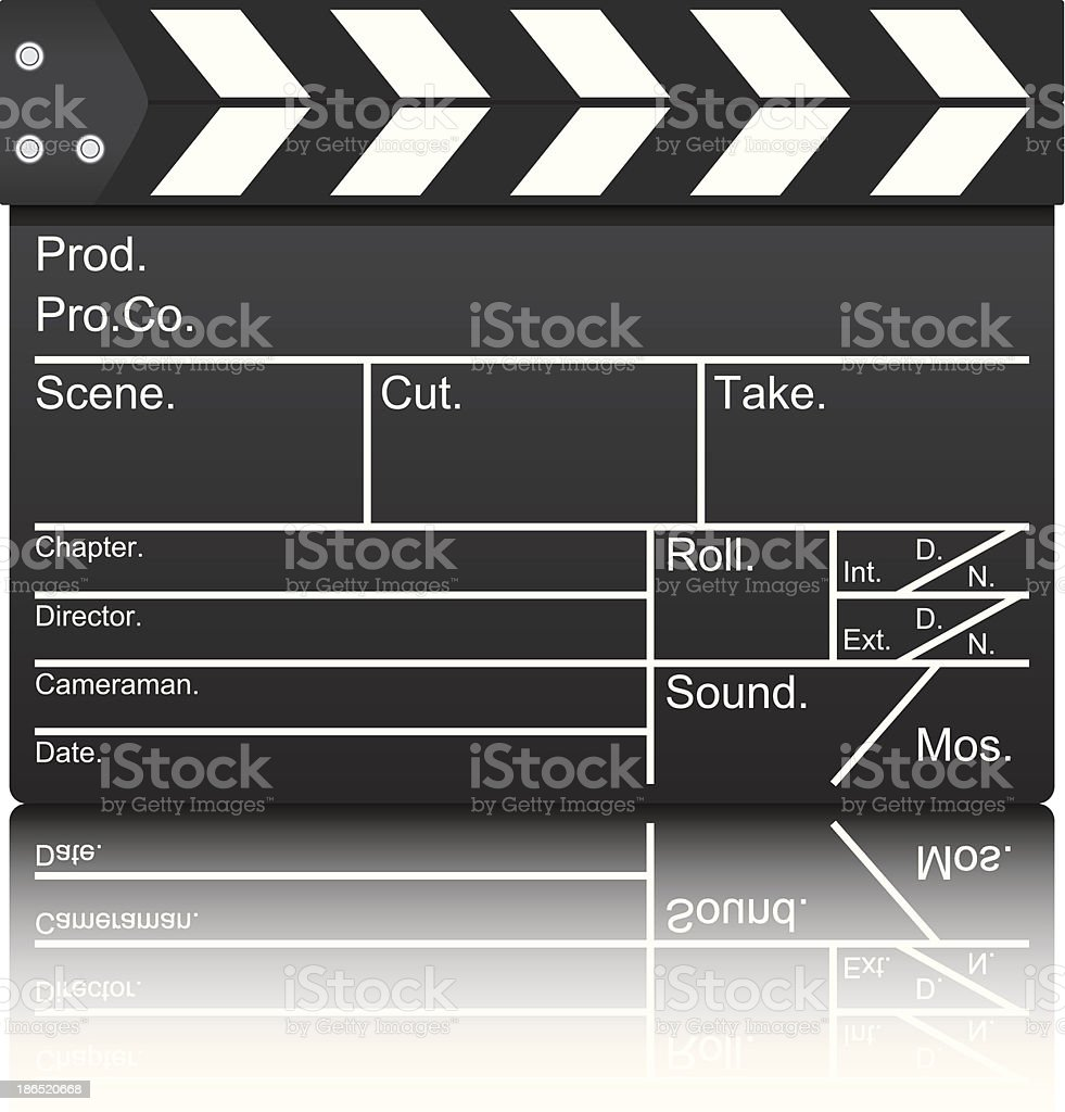 Film slate royalty-free film slate stock vector art & more images of activity