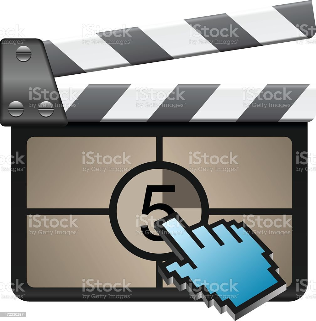 Film Slate with cursor royalty-free stock vector art