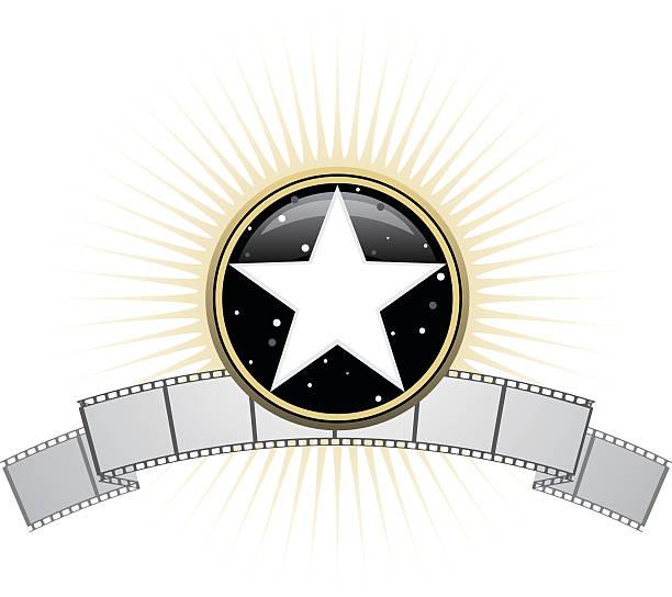 Filmu Star Logo – artystyczna grafika wektorowa
