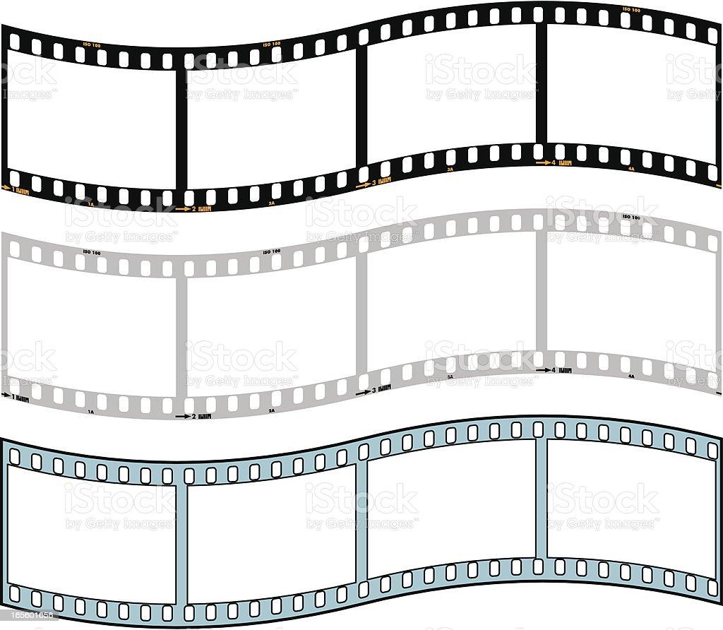 Film Strip 35mm vector art illustration
