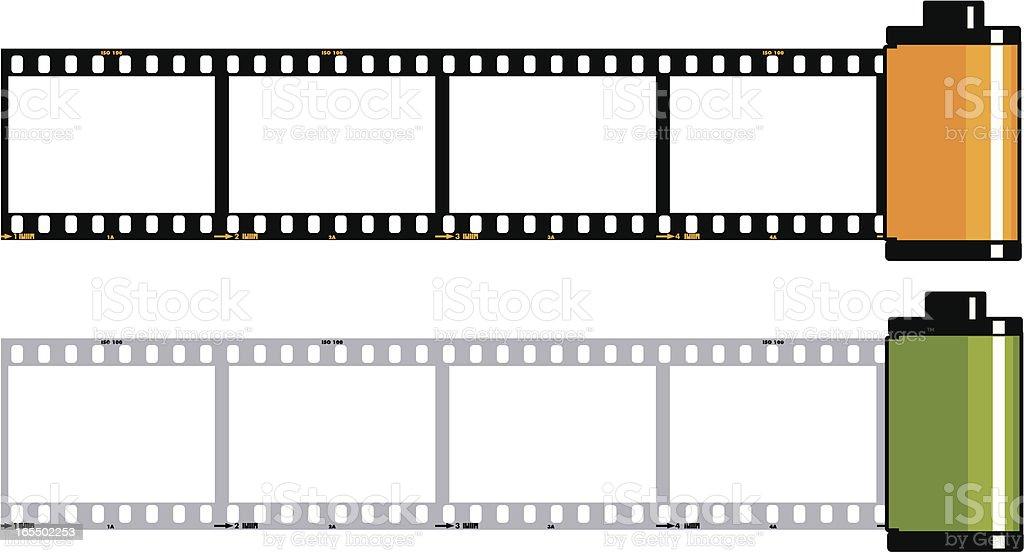 Film Strip Cassette vector art illustration